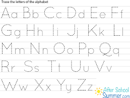 Trace Chart Printable Traceable Alphabet Chart For Upper And Lower Case