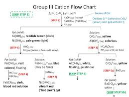 Ppt Group Iii Cation Flow Chart Powerpoint Presentation