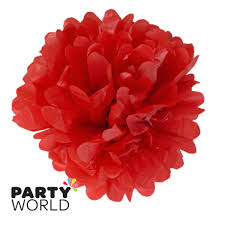 Puff Ball Decorations Nz Enchanting 332in Puff Balls Red 32