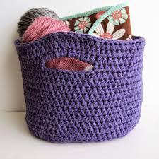 Crochet Basket With Handles Pattern