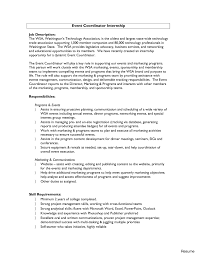 Event Management Job Description Resume Chic Ideas Sample Cover Letters For Internships 100 Letter Business 63