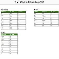 Dansko Clogs Size Chart