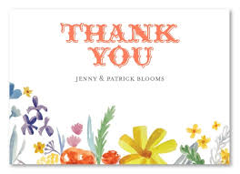 Summer Thank You Wildflowers Summer Thank You Cards On Premium Linen Recycled Paper