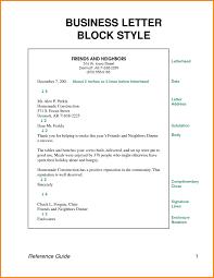 Letter Format Styles Fresh Full Block Style Busine Simple Letter