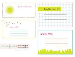 Free Printable Cute Mailing Labels Freebies Pinterest Mailing Cool Free Mailing Label