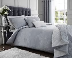 details about luxury reversable printed paisley grey white bedding duvet sets and accessories