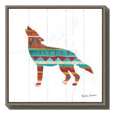 amanti art southwestern vibes vi wolf by farida zaman framed canvas