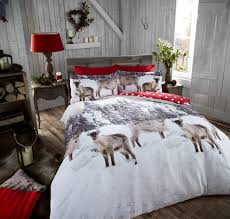 cotton flannelette printed duvet cover bedding set out of stockfeatured