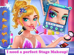 ice skating ballerina dress up makeup game iprom games 2