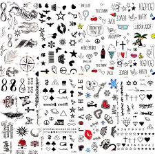 Horké Malé Sexy Rty List černý Kreslený Dočasné Tetování Roztomilý