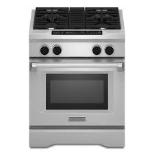 kitchenaid 30 inch 4 1 cu ft 4 burner dual fuel f