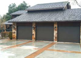brown garage doors with windows. Flat Panel Garage Door Grey Flush With Top Windows Brown Doors A