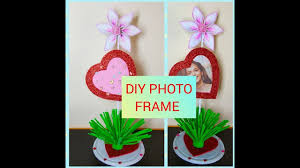 diy heart shaped photo frame how to make very easy heart shape photo frame at home full tutorial tkg crafts
