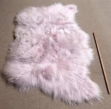 pale pink icelandic sheepskin rug triple 120 x 180 cm