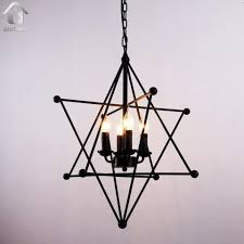 black chandelier lighting. Black Vintage 8-Point Star Shape Hanging Ceiling Chandelier Lighting With 4 Lights - Unitarylighting R