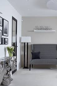 contemporary loft furniture. Contemporary Master Bedroom Design Among Grey Tufted Headboard Also Dark Sideboard Ideas At Airy Apartment Moscow Loft Furniture