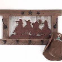 Western Coat Rack Tack Racks Shelves Hooks Signature Cowboy Western Decor 40