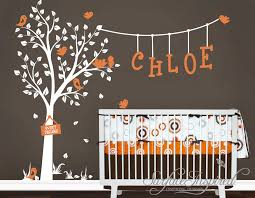 image of spring wall decals for nursery