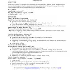 Objective For Social Work Resume Social Work Resume Examples Surprising Of Resumes School Clinical 70
