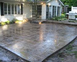 Stylish Stamped Concrete Patio Design Ideas Stain Patio Stamped