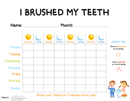 Teeth Brushing Chart Eight Tricks To Get Your Kids To Brush Their Teeth Fort