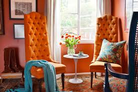 Orange And Blue Living Room Decor How To Decorate Your Home With Orange Photos