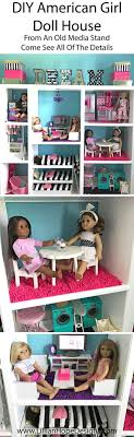 How to make a DIY American Girl Doll house for an affordable price from an  old