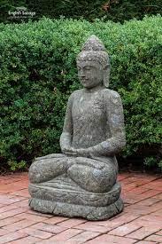 meditating stone buddha statue for garden