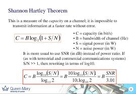 What is the derivation for Shannon Hartley theorem? - Electrical ...
