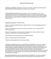 Computer System Analyst Job Description Network Specialist Job ...