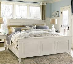 white panel bed. Contemporary White CountryChic White King Panel Bed Frame With