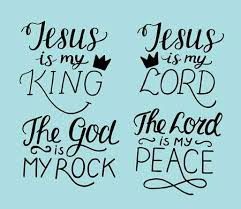 Set Of 40 Hand Lettering Christian Quotes Jesus Is My King Lord Awesome My King Quotes