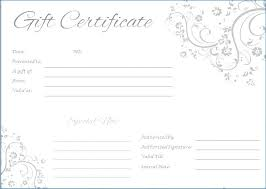 Fillable Gift Certificate Template Free Free Fill In Gift Certificate Moontex Co