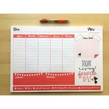Diary Organizer Blanco Mi Tienda
