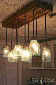 mason jar dining room light remarkable lighting diy ideas 1000 lights made from mason jars