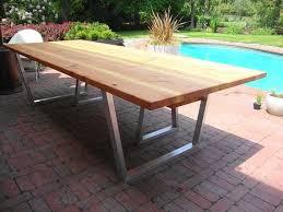 modern outdoor dining furniture. Modern Outdoor Dining Table - Cedar \u0026 Aluminum Legs (Flat Pack) Is  Oiled. Modern Outdoor Dining Furniture