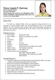 resume simple example resume examples philippines format sample 0 1 flexible or