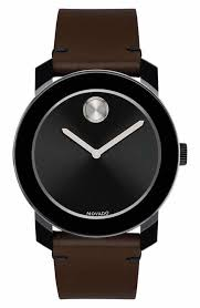 leather watches for men nordstrom movado bold leather strap watch