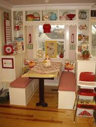 Image result for vintage breakfast nook