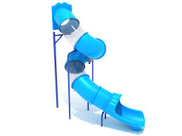 Swirly Slides 12 Feet Deck Height Spiral Tube Slide Slide And Supports Only