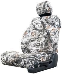 snow camo seat cover