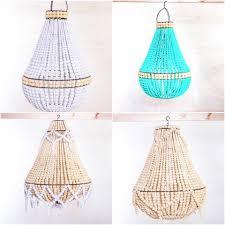 wood bead chandelier bali handmade
