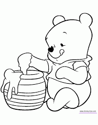 Small Picture Baby Pooh Bear Coloring Pages Printable Coloring Sheets
