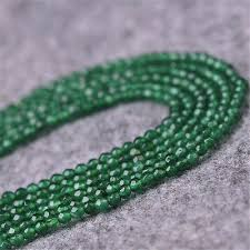 1pcs 4MM Green Chalcedony <b>Faceted</b> Gemstone Loose Bead 15.5 ...