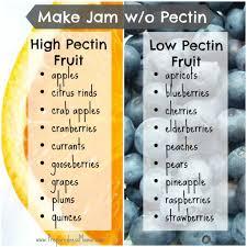 Pectin Content Of Fruits Chart How We Preserve Foods Make Jam Without Pectin