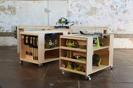 ultimate roll away workbench system for ryobi blogger build off