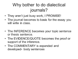 dialectical journal and character analysis what is a dialectical  why bother to do dialectical journals they aren t just busy work i