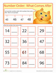 Ordering Numbers Worksheets in addition  likewise Printable Counting Worksheet   Counting up to 50 further Basic Math Worksheets   Ordering Numbers to 100 furthermore Best 25  Ordering numbers ideas on Pinterest   Year 4 maths as well  also Ordering Numbers Worksheets    paring ordering numbers moreover  as well First Grade Counting Backwards Worksheet as well Kindergarten Counting Worksheets   Sequencing to 25 further Skip Counting Nines. on number order worksheets for first grade