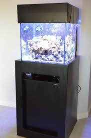 50 gallon cube stand with electronics shelf above the sump
