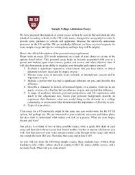 College Application Essay Example Format Magdalene Project Org